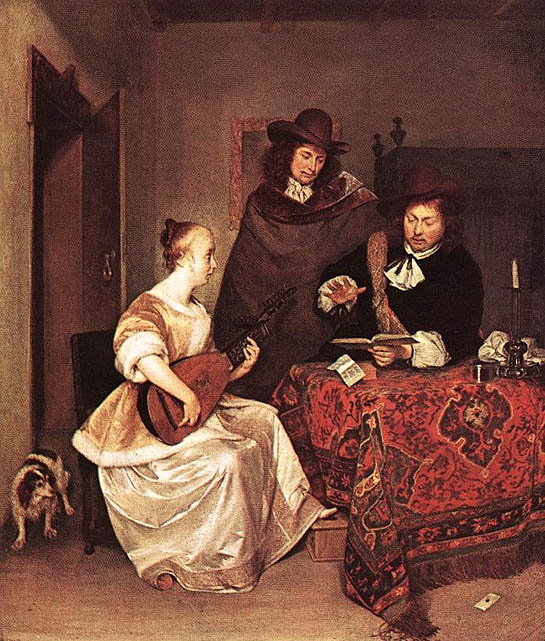 Gerard TERBORCH (1617-1681) La leçon de musique (1675) National Gallery, London