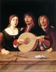 Lorenzo COSTA (1460-1535) Concert 1485-95 National Gallery, London